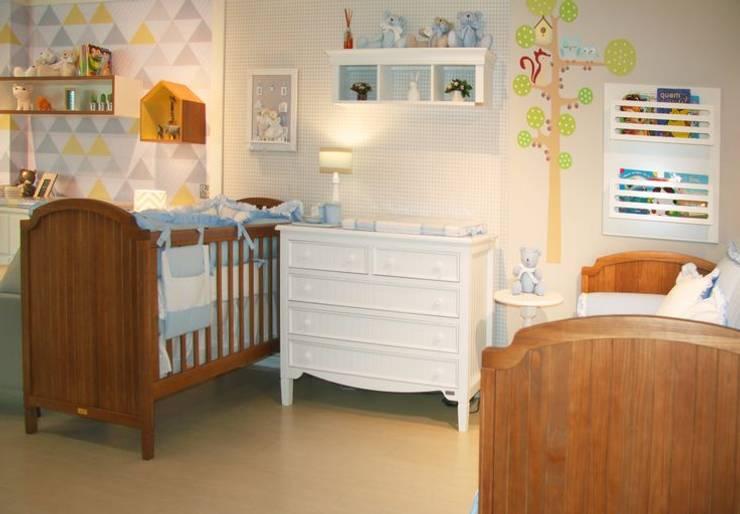 Quarto de bebê completo decorado - linha Madeira Maçica: Quarto de crianças  por INTERCASA MÓVEIS INFANTIS E JUVENIS,