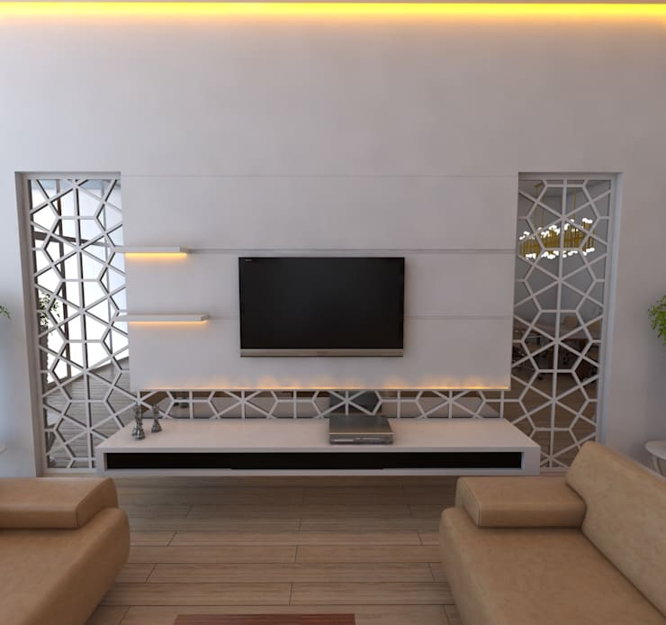 Salas/Recibidores de estilo  por Murat Aksel Architecture