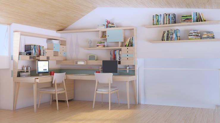 Escritório ThoMon: Escritório e loja  por Infinitta - arte | design | arquitetura | interiores | vm