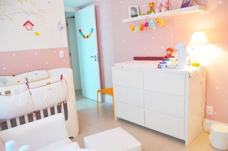 Quarto de bebê completo decorado - Paula, Bruno e Maria Clara: Quarto de crianças  por INTERCASA MÓVEIS INFANTIS E JUVENIS,