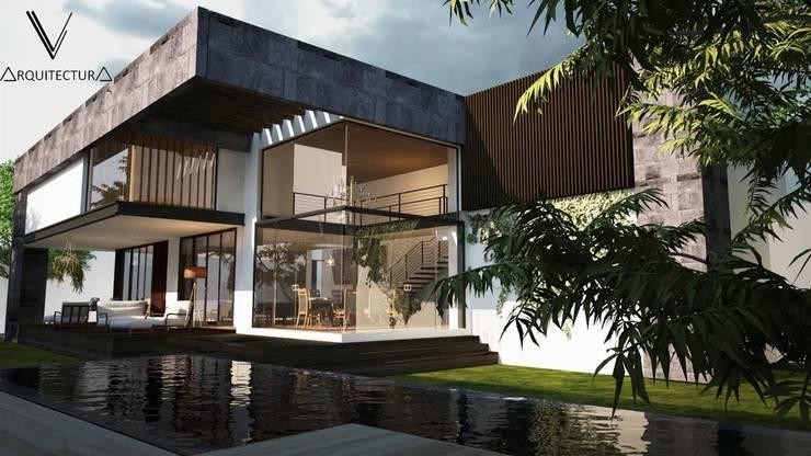 Fachada Lateral :  de estilo  por V Arquitectura