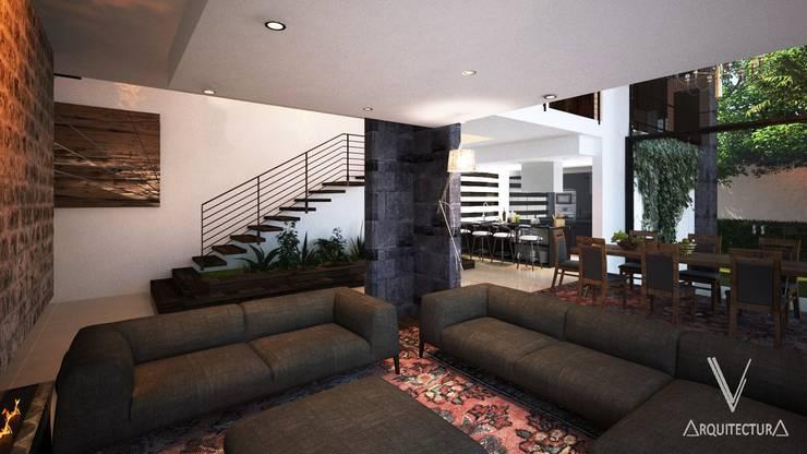 Vista desde sala :  de estilo  por V Arquitectura