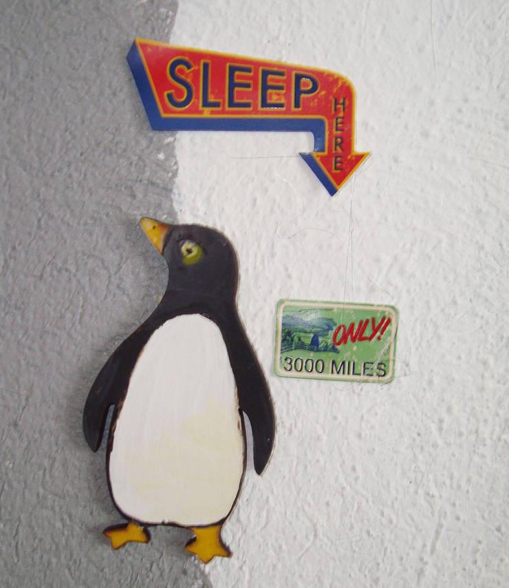 Pingüino con relieve en mapa:  de estilo  por LM decoración