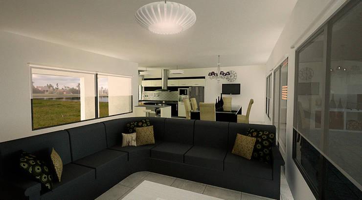 Casa Country Moderna:  de estilo  por Rohe Arquitectura+Diseño