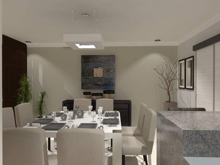 COMEDOR: Comedores de estilo  por AurEa 34 -Arquitectura tu Espacio-
