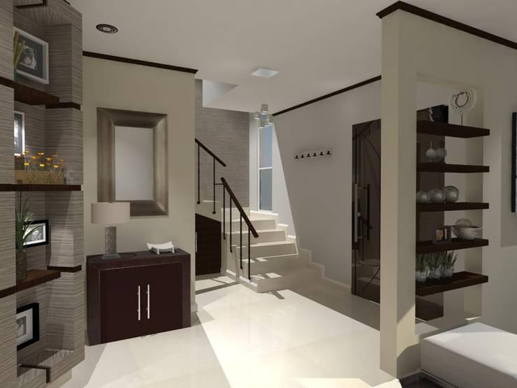Corredores e halls de entrada  por AurEa 34 -Arquitectura tu Espacio-