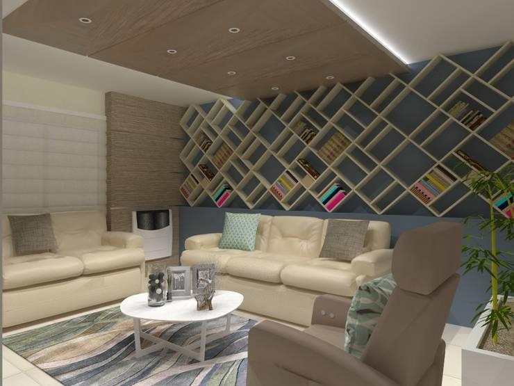 SALA MULTIMEDIA: Salas multimedia de estilo  por AurEa 34 -Arquitectura tu Espacio-