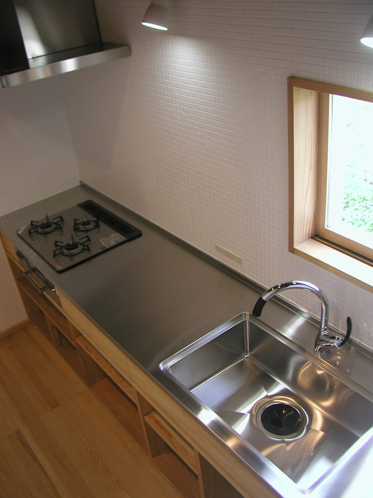 K家 土蔵の再生 オリジナルデザインの キッチン の 池内建築図案室 オリジナル