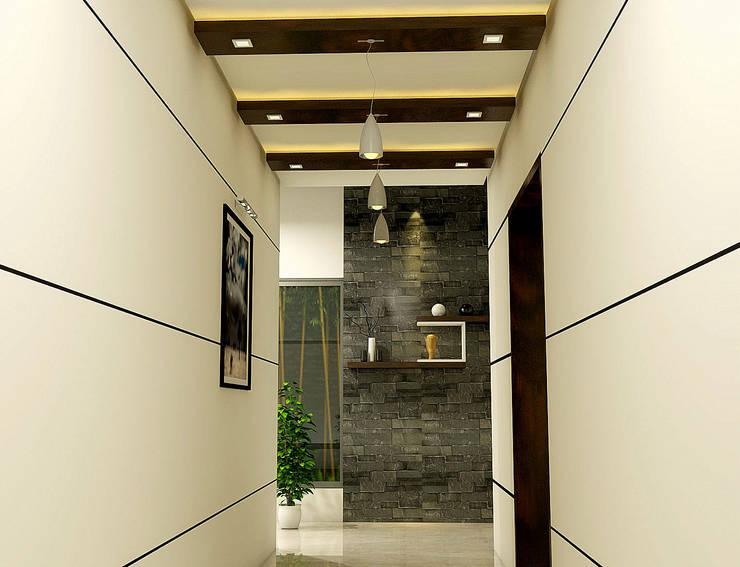 Foyer:  Corridor & hallway by BN Architects