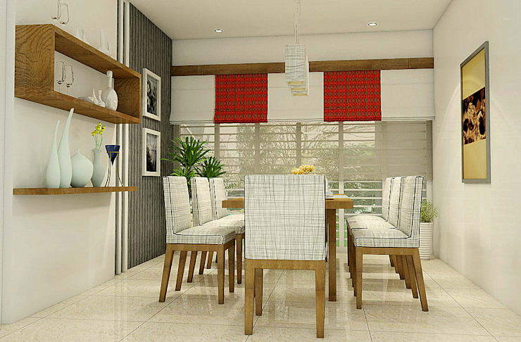 Residence of Mr. Shoukath at Perinthalmanna:  Dining room by BN Architects