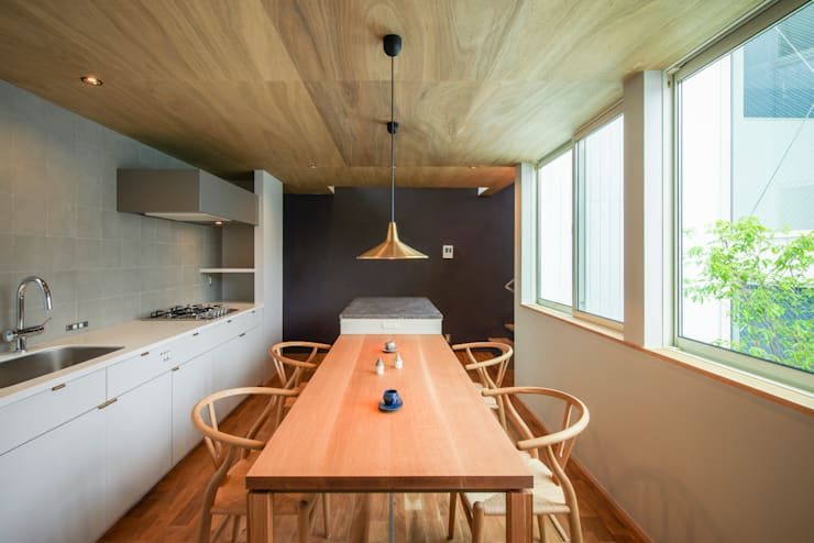 modern Dining room by Nobuyoshi Hayashi