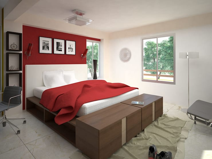 modern Bedroom by AVANT ARQ