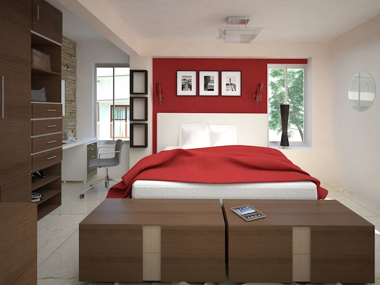 Dormitorios de estilo  por AVANT ARQ
