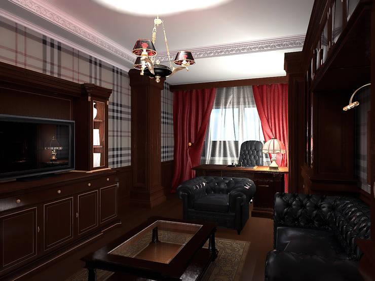 Кабинет в стиле классика: Рабочие кабинеты в . Автор – ООО 'Бастет'