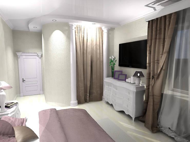 Проект спальни в стиле неоклассика: Спальни в . Автор – ООО 'Бастет'