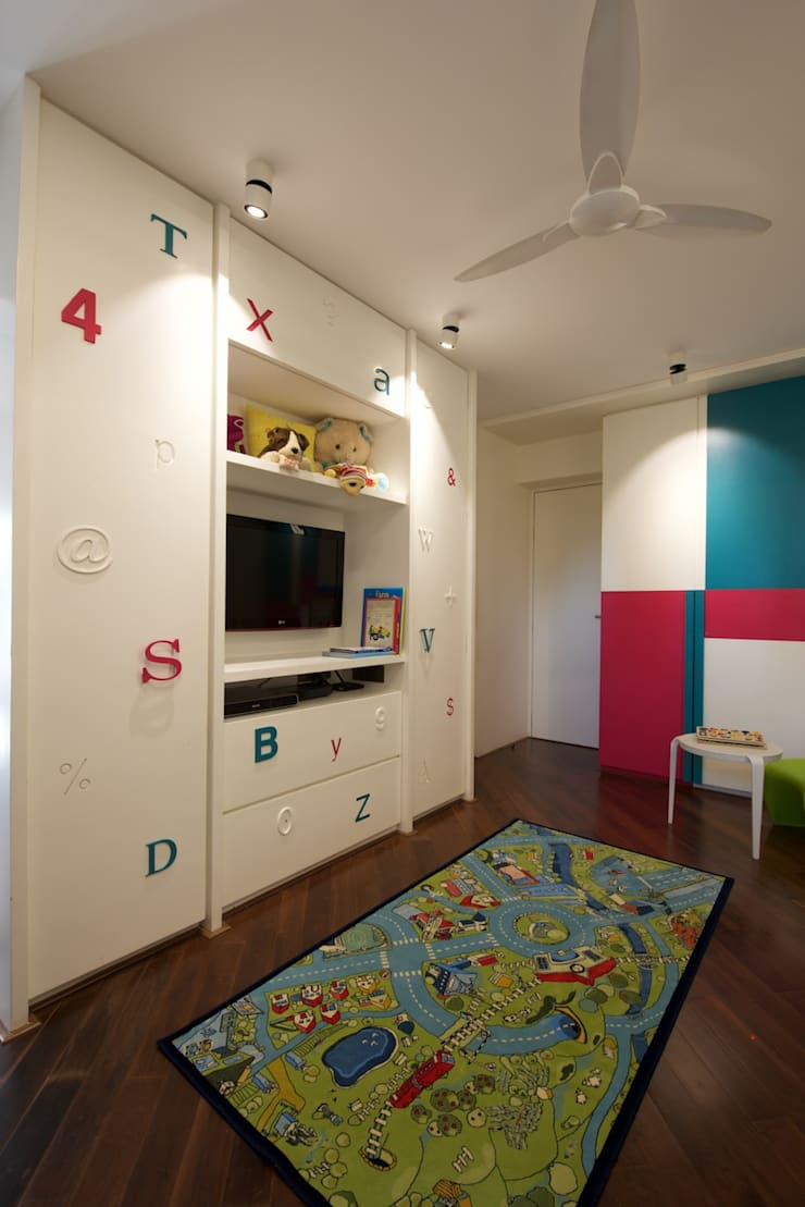 AA Apartment: modern Nursery/kid's room by Atelier Design N Domain
