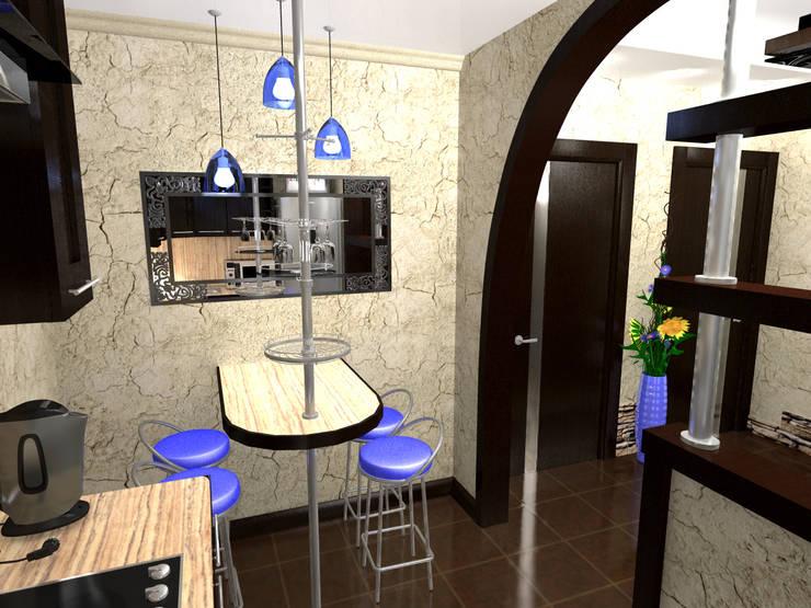 Перепланировка квартиры в стиле конструктивизм: Кухни в . Автор – ООО 'Бастет',
