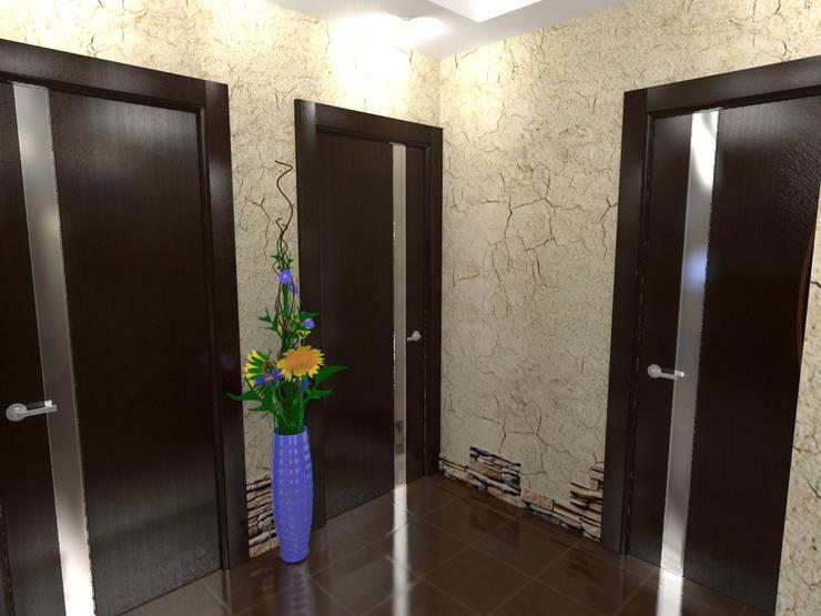 Перепланировка квартиры в стиле конструктивизм: Коридор и прихожая в . Автор – ООО 'Бастет',