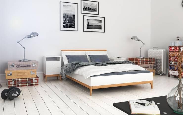 sypialnia: styl , w kategorii Sypialnia zaprojektowany przez onemarket.pl