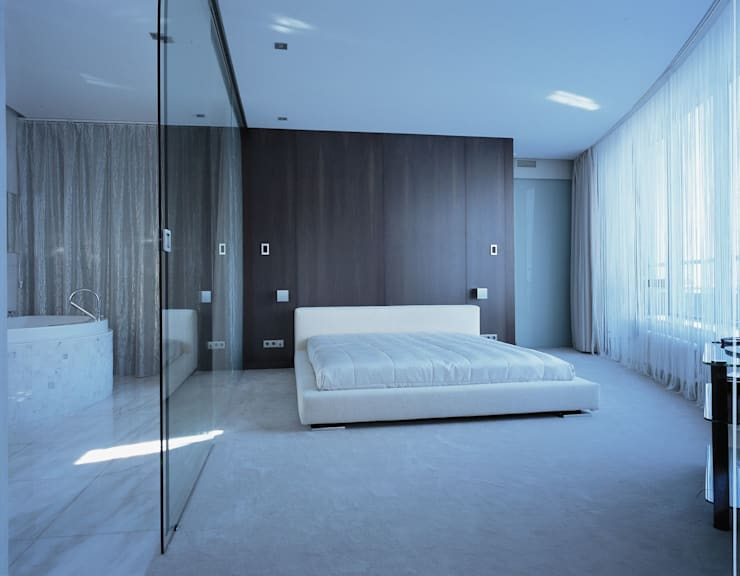 Квартира на Литейном: Спальни в . Автор – ASASH, Минимализм