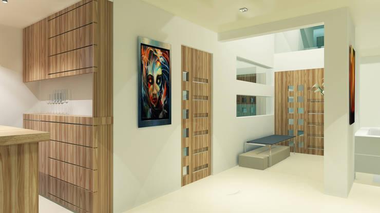 Reserva de las Animas: Pasillos y recibidores de estilo  por CouturierStudio