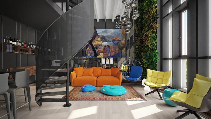 TriBeCa: Гостиная в . Автор – FEDOROVICH Interior