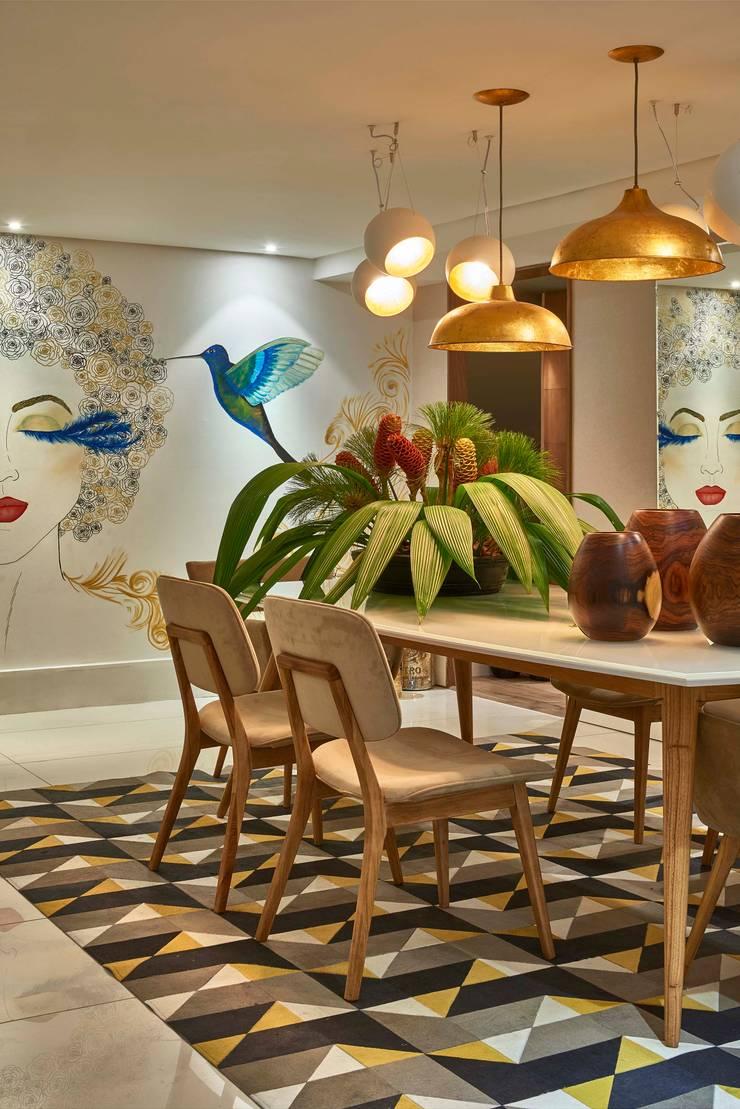 Decora Lider Rio de Janeiro – Sala de Jantar: Salas de jantar  por Lider Interiores,