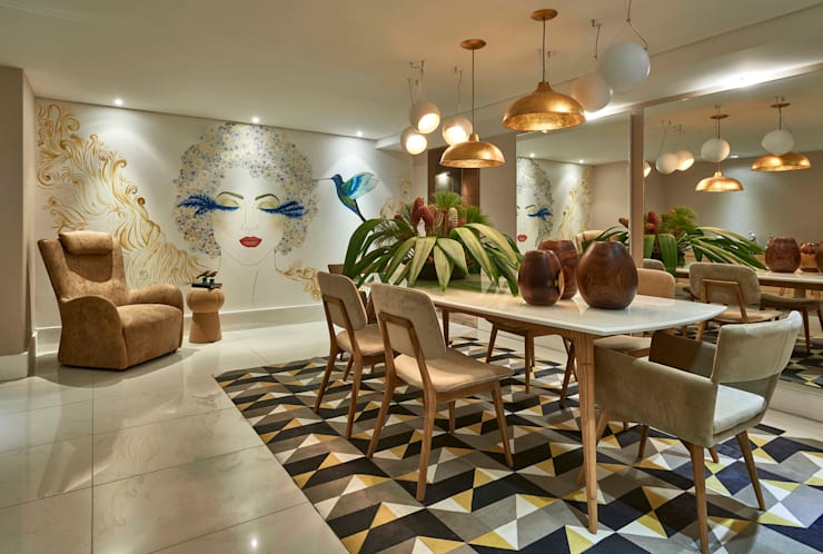 Decora Lider Rio de Janeiro - Sala de Jantar: Salas de jantar modernas por Lider Interiores