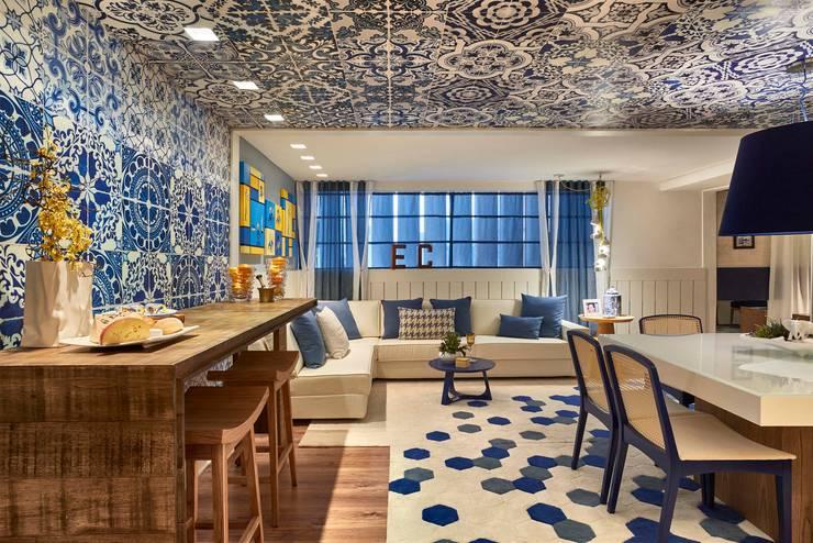 Decora Llider Rio de Janeiro – Sala de Almoço: Salas de jantar  por Lider Interiores,