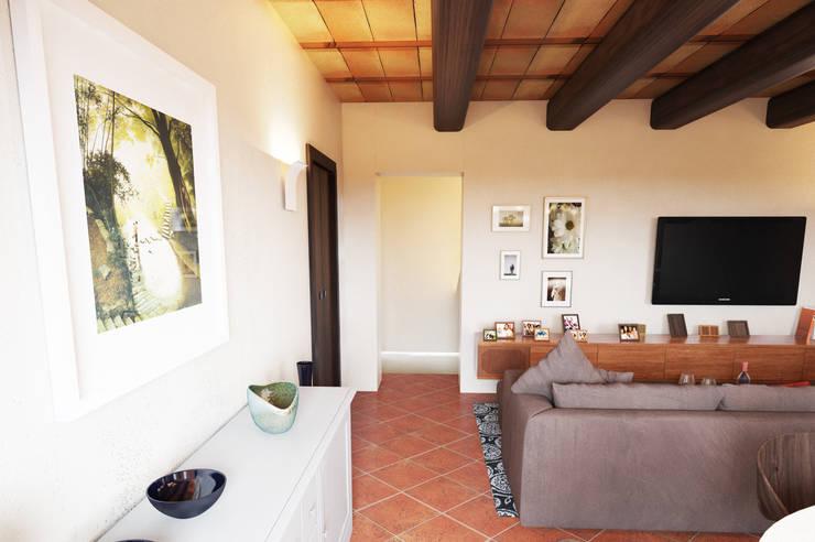 Ingresso: Sala multimediale in stile di Studio Bennardi - Architettura & Design