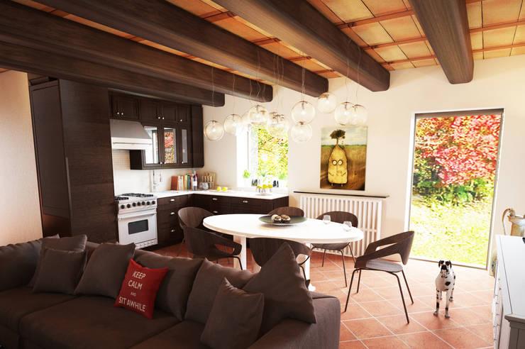 Pranzo: Sala da pranzo in stile in stile Moderno di Studio Bennardi - Architettura & Design