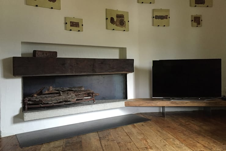 Living room by davide petronici | architettura, Country Wood Wood effect