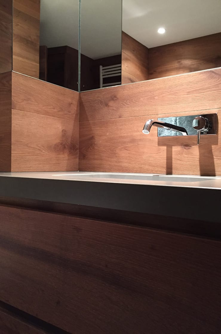 Bathroom by davide petronici | architettura, Country Wood Wood effect