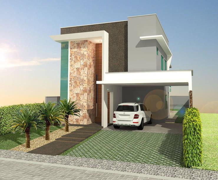 Residência no Condomínio Jardins do Lago, Eusébio, Ceará, Brasil. : Casas  por Directa Arquitetura