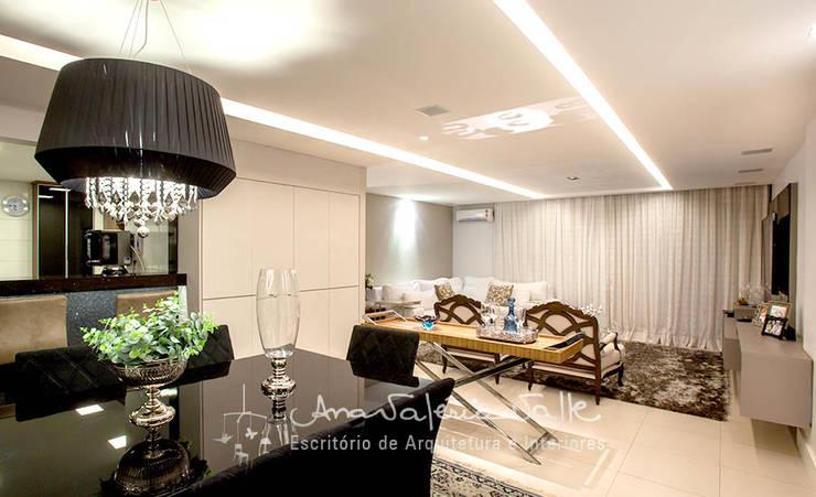 Projeto Anual Design - Apartamento Park Sul: Salas de jantar  por Ana Valeria Valle