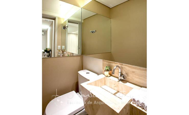 Projeto Anual Design – Apartamento Park Sul: Banheiros  por Ana Valeria Valle