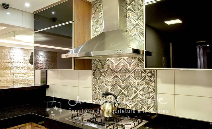 Projeto Anual Design – Apartamento Park Sul: Cozinhas  por Ana Valeria Valle