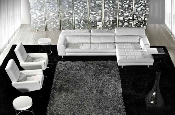Salones de estilo moderno de Intense mobiliário e interiores;