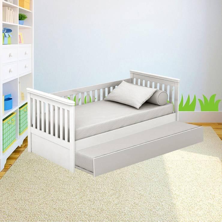 Bi-Cama Infantil / Juvenil Tata: Quarto de crianças  por INTERCASA MÓVEIS INFANTIS E JUVENIS,