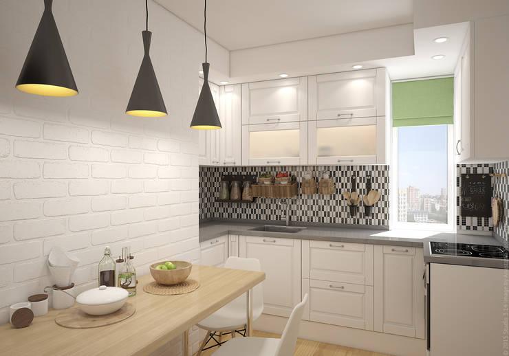 """Кухня. """"Московская Скандинавия"""": Кухни в . Автор – «Студия 3.14»"""