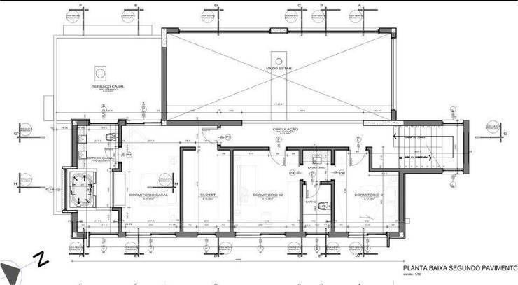 Casa Grafulha: Quartos  por Super StudioB,