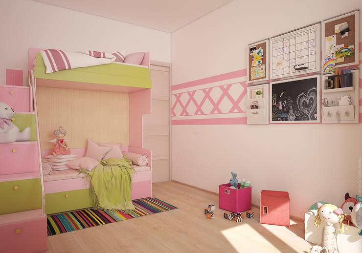 """Детская девочки. """"Московская Скандинавия"""": Детские комнаты в . Автор – «Студия 3.14»"""