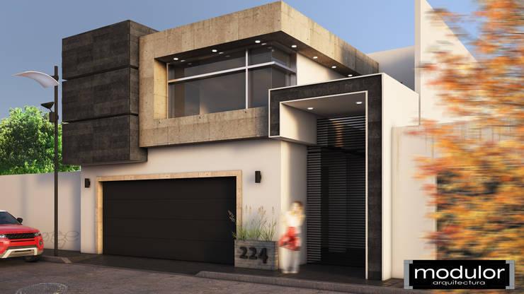Fachada A224: Casas de estilo  por Modulor Arquitectura