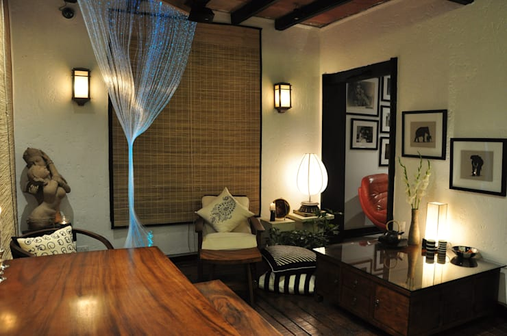 Apartment: modern Dining room by monica khanna designs