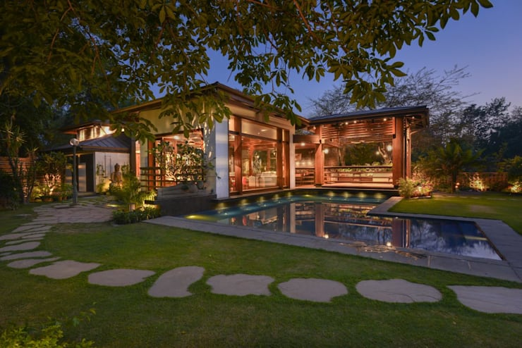 modern Pool by monica khanna designs