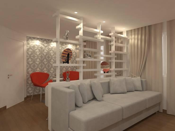 Sala de estar: Sala de estar  por Danielle David Arquitetura