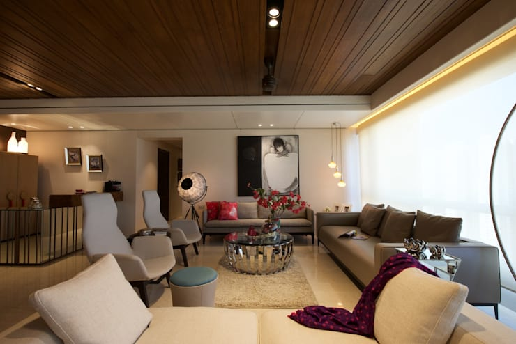 NG Apartment :  Living room by Atelier Design N Domain