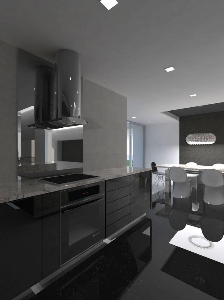 Remodelación Casa La Viña.: Cocinas de estilo minimalista por Marianny Velasquez arquitecto