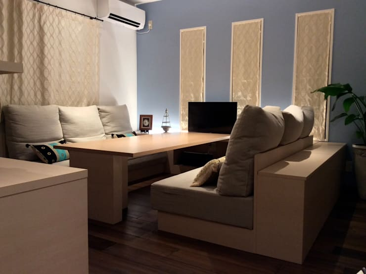 デザイナーと作るオンリーワンの空間。今回のテーマは「フレンチモロカン」。 地中海デザインの リビング の 株式会社ウイッシュ 地中海