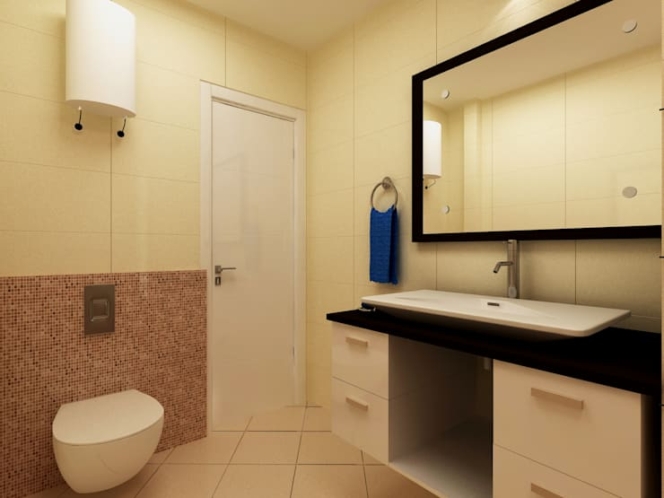 Bathroom by Indeera Builders Private Limited